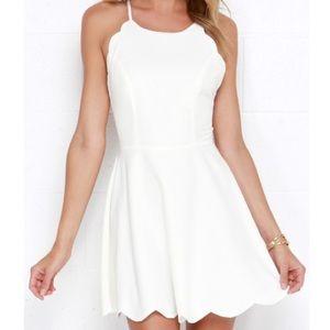 NWT Lulu's 'Play on Curves' Ivory Backless Dress